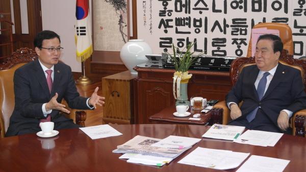 오세중 회장, 문희상 국회의장 면담