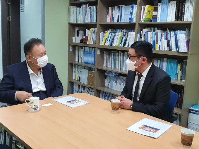김병욱·이상민·한준호·이규민 의원 예방